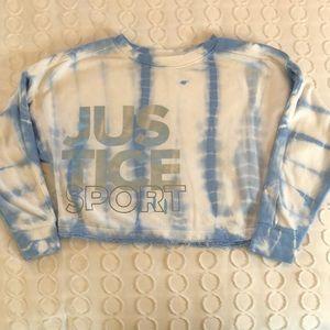 Justice Girls Cropped Active Sweatshirt. SZ. 12